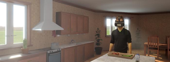 Kuntoutusta virtuaalisessa keittiöympäristössä, jonka on tehnyt Peili Vision