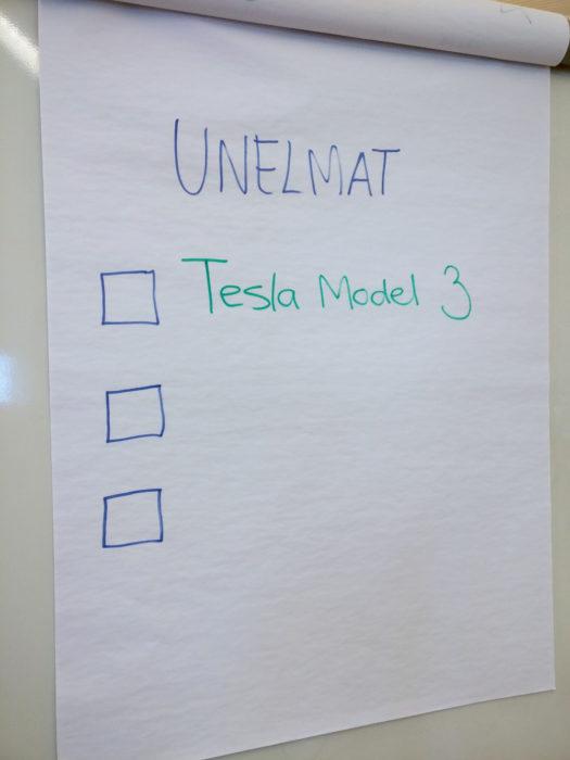 Unelmat: Tesla Model 3 ja mitä muuta?